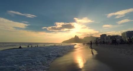 Ipanema Beach Sunset in Rio de Janeiro Brazil