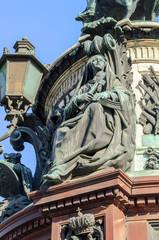 "Sculpture ""Faith"" on the monument to Emperor Nicholas I"