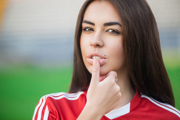 Beautiful Football Girl portrait