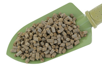 Compressed Organic Animal-based Fertilizer Pellets