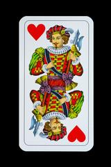 Spielkarten - Jagd-Tarock - Herz Ober