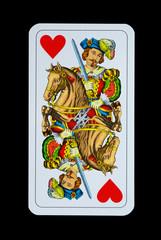 Spielkarten - Jagd-Tarock - Herz Reiter