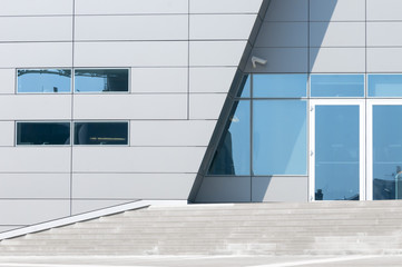 architectural details of modern building