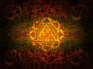 OM symbol , Yantra Goddess Lakshmi