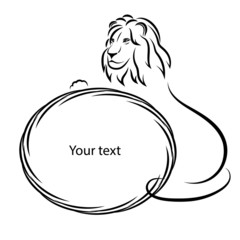 Design elements. Lion silhouette on a white background