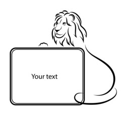 Design elements. Lion silhouette on a white background.