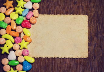 background with small colorful candy