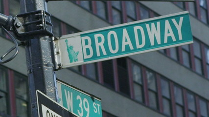 Broadway signpost in New York City