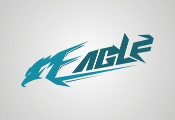 Eagle font logo vector