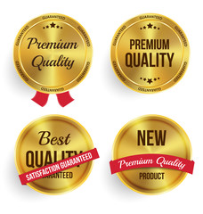 Gold label shopping vector