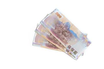 New Taiwan Dollar cash isolated