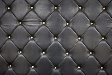 Black Leather Upholstery Background