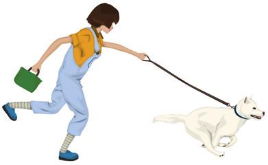 犬の散歩 引っ張りが強い