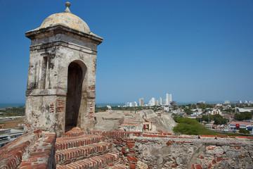 Castle of San Felipe De Barajas in Cartagena