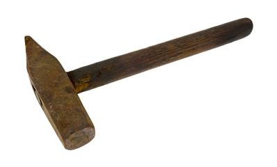 Antique Masonry Hammer Side View