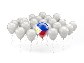 Air balloons with flag of philippines