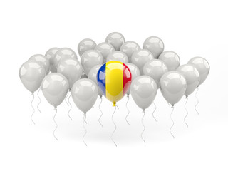 Air balloons with flag of romania