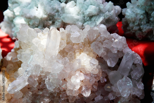 Group of natural colorful raw gemstones - 80523012