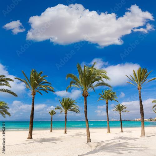 Leinwanddruck Bild Majorca sArenal arenal beach Platja de Palma