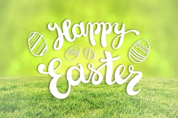 Composite image of happy easter greeting