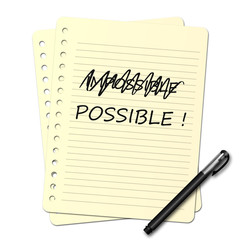 Bloc note : possible