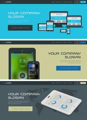 Vector website header or banner template