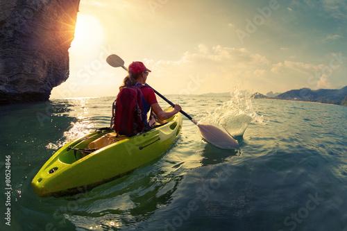 Woman on the kayak - 80524846