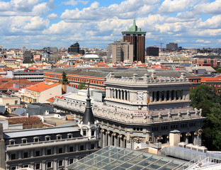 Spain. Top view of the capital of Spain - Madrid.