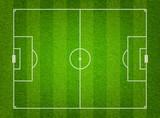 Green grass soccer field background - 80525661