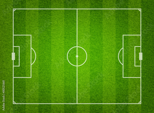 Green grass soccer field background - 80525661