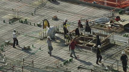 City construction crew at work