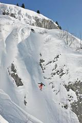 Snowboarder off-piste