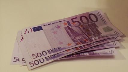 Cash, euro banknotes