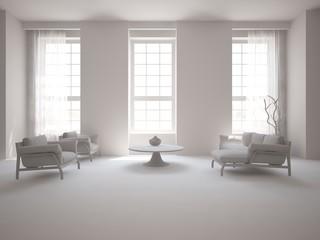 grey interior design of living room