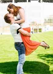 the guy kisses the girl