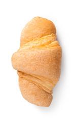 fresh croissant on white background