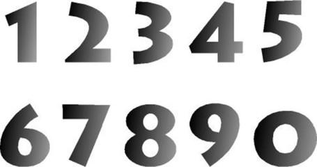 Zahlen, schwarz