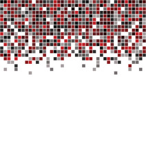 Pixel art style illustrated background isolated over white