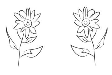 smiling flower illustration