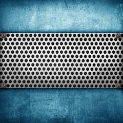 blu metal panel