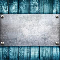 blu wood panel