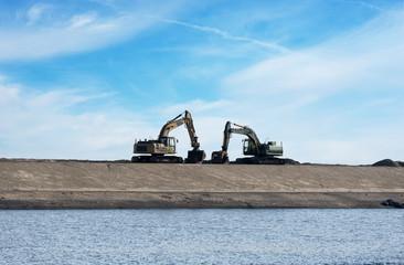 two bulldozer