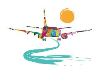 illustrazione astratta di aereo