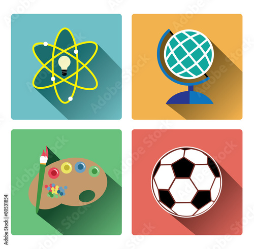 Subject Icons Free Modern Education Subject Icons