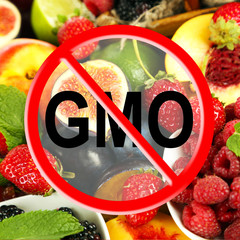 Fresh fruits and berries without gmo