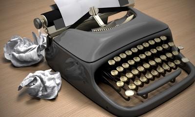 Typewriter. 3D. Typewriter series