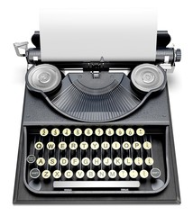 Typewriter. 3D. Antique Type Writer