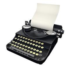 Typewriter. 3D. Typewriter