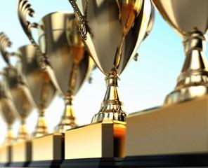 Award. 3D. Trophies