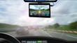 Leinwanddruck Bild - Navigationsgerät - Autoverkehr - Routenplanung - 16zu9 g3454